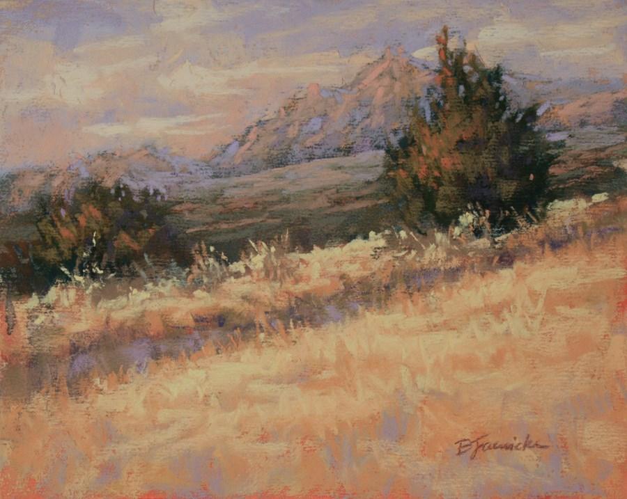 """Uphill Light"" original fine art by Barbara Jaenicke"