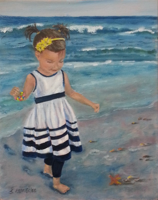 """Bailey on the Beach"" original fine art by Sissy Blakslee"