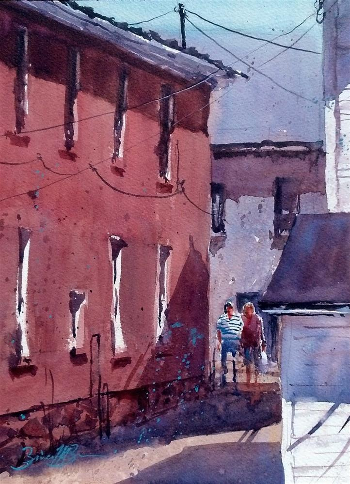 """Shopping Mayfest"" original fine art by Brienne M Brown"