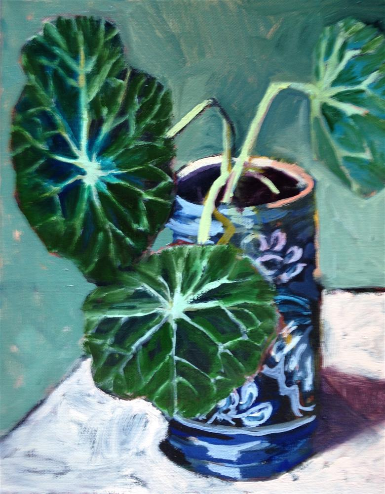 """Big Leaves"" original fine art by Pamela Hoffmeister"