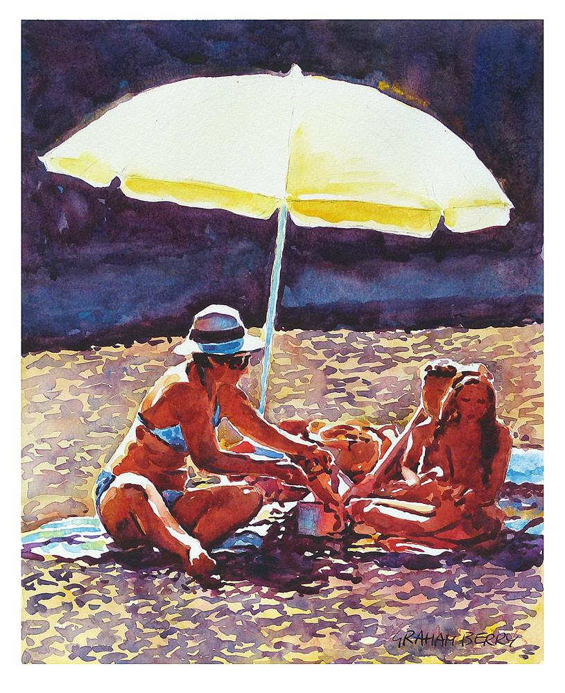 """Beach picnic."" original fine art by Graham Berry"