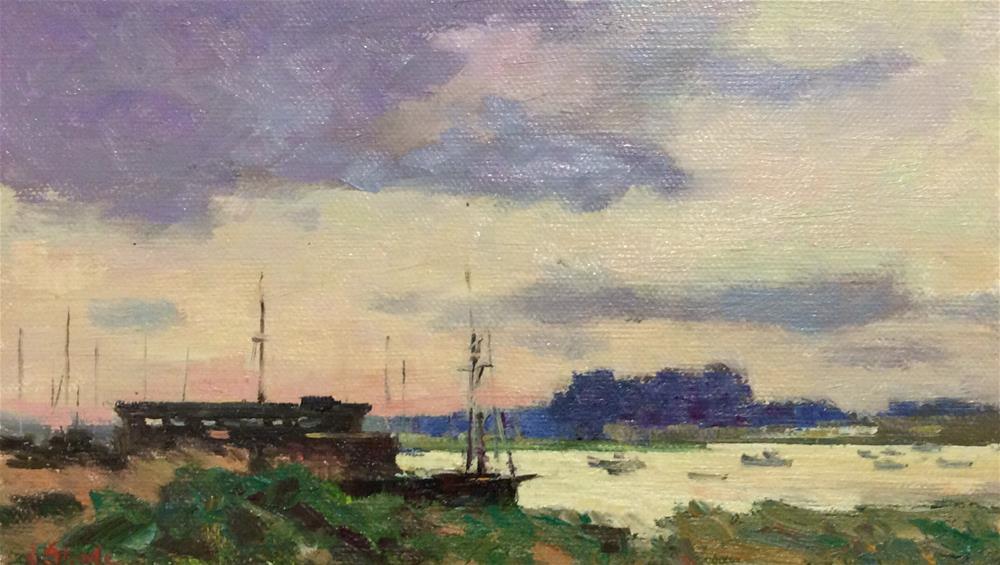 """Aldburgh Boatyard"" original fine art by John Shave"