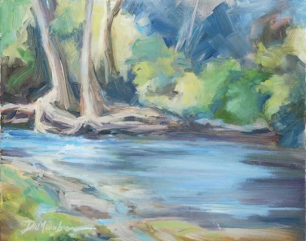 """Plantation Roots- Richland Creek"" original fine art by Carol DeMumbrum"