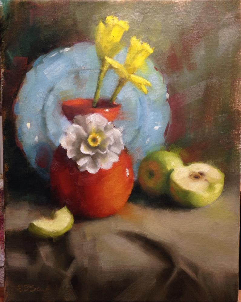 """Spring Daffodils"" original fine art by Emilie Saunders"