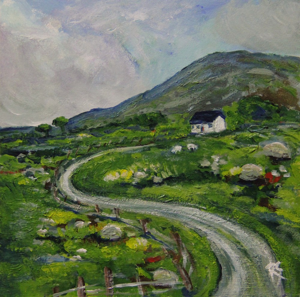 """County Kerry Cottage"" original fine art by Roberta Schmidt"