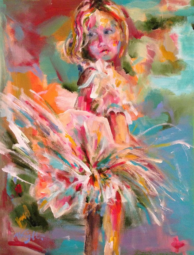 """It's All About The Tutu"" original fine art by Molly Wright"