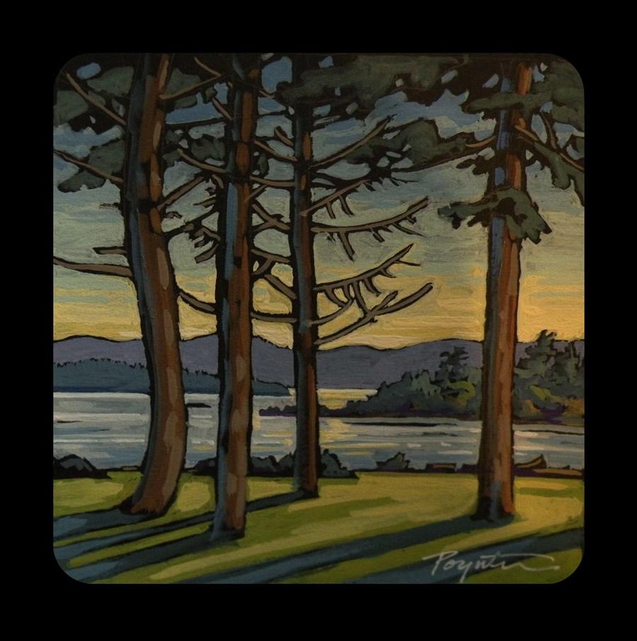 """""""3.16 Craig Bay Longshadows"""" original fine art by Jan Poynter"""