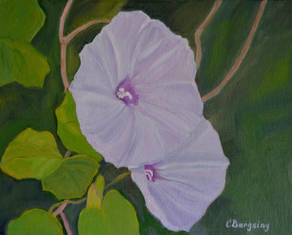 """Morning Glories"" original fine art by Cathy Bergsing"