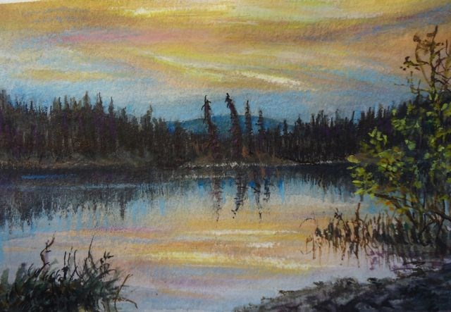 """Memories of Summer, Fisheye Lake"" original fine art by Jackie Irvine"