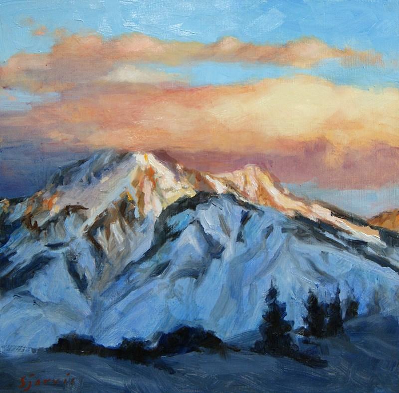 """""""Mt. Olympus Sunset"""" original fine art by Susan N Jarvis"""