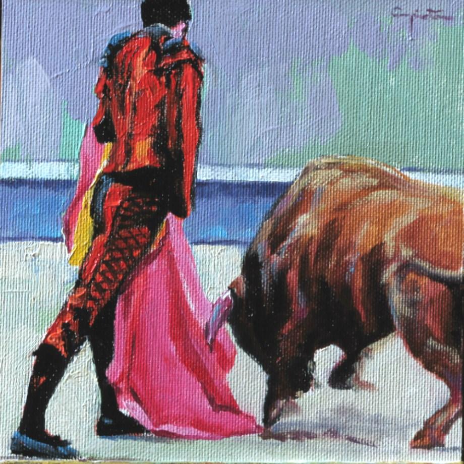 """""""Quite goyesco"""" original fine art by Eduardo Carpintero"""