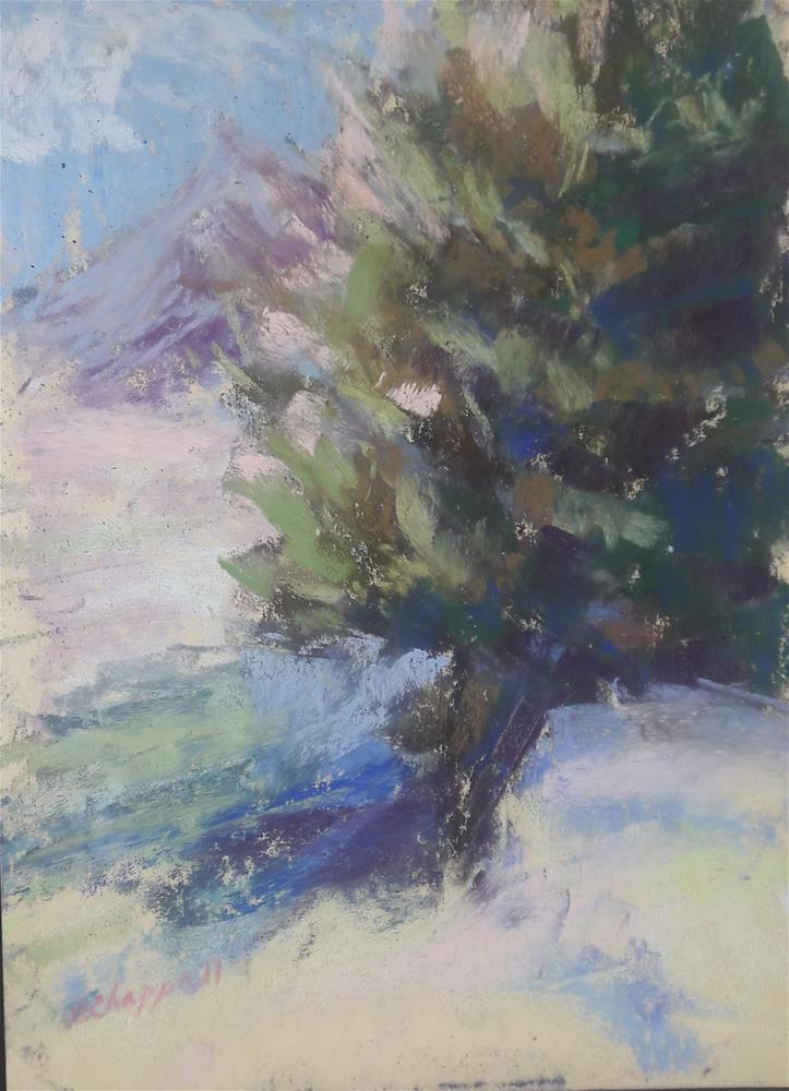 """Winter Light"" original fine art by Becky Chappell"