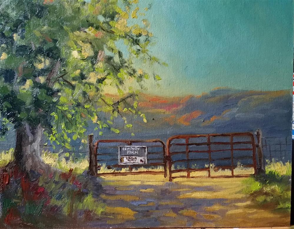 """Century Farm-en plein air"" original fine art by Veronica Brown"