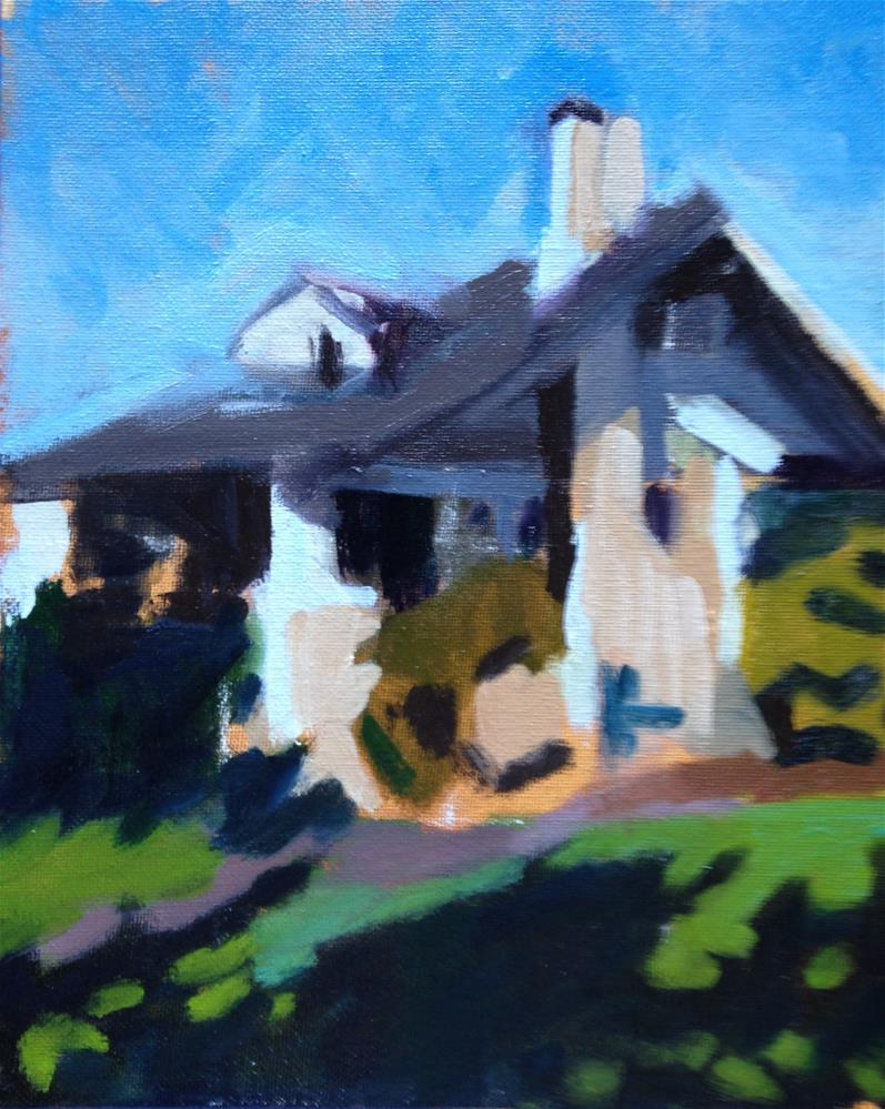 """Neighbors' House II"" original fine art by Pamela Hoffmeister"