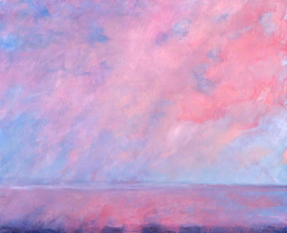 """""""Clouds on Fire"""" original fine art by J Kelsey"""