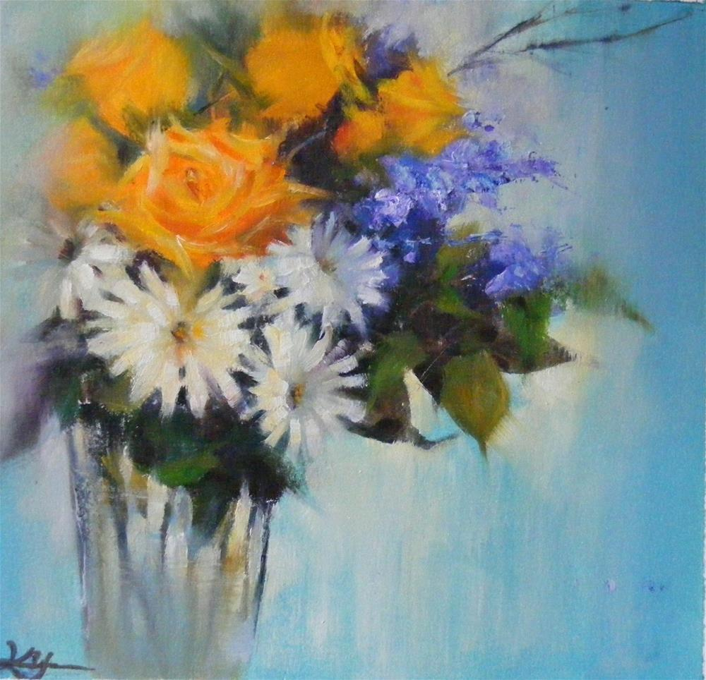 """A bouquet for today"" original fine art by Celine K.  Yong"
