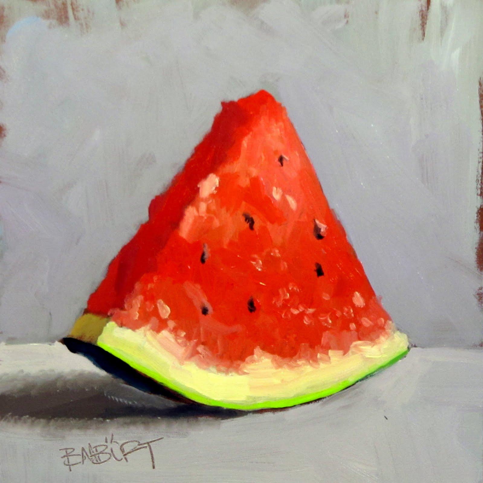"""ART 4 DIAPERS (DAILY DIAPER #160) Slice of Summer"" original fine art by Brian Burt"