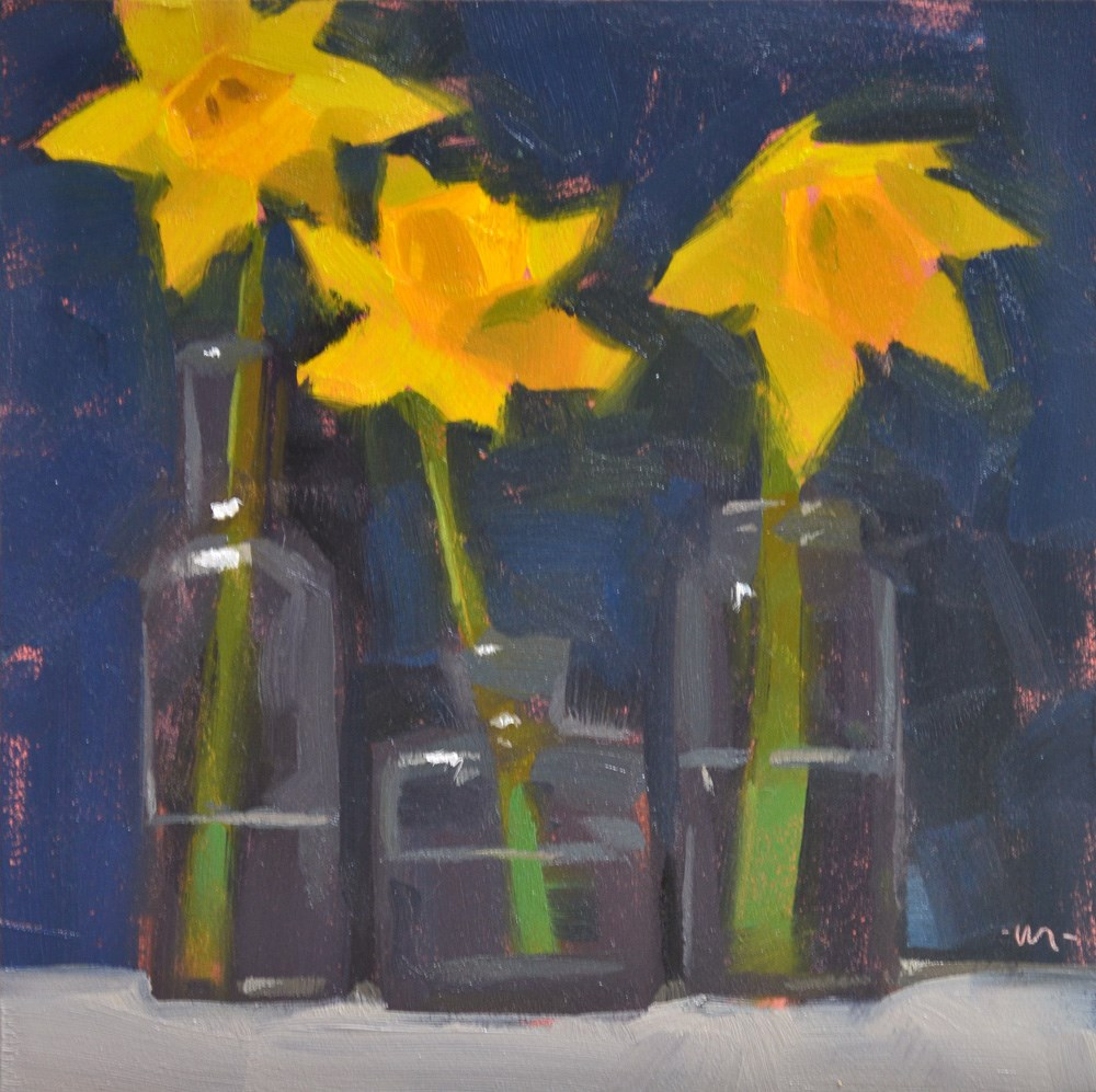 """Daffy Dils"" original fine art by Carol Marine"