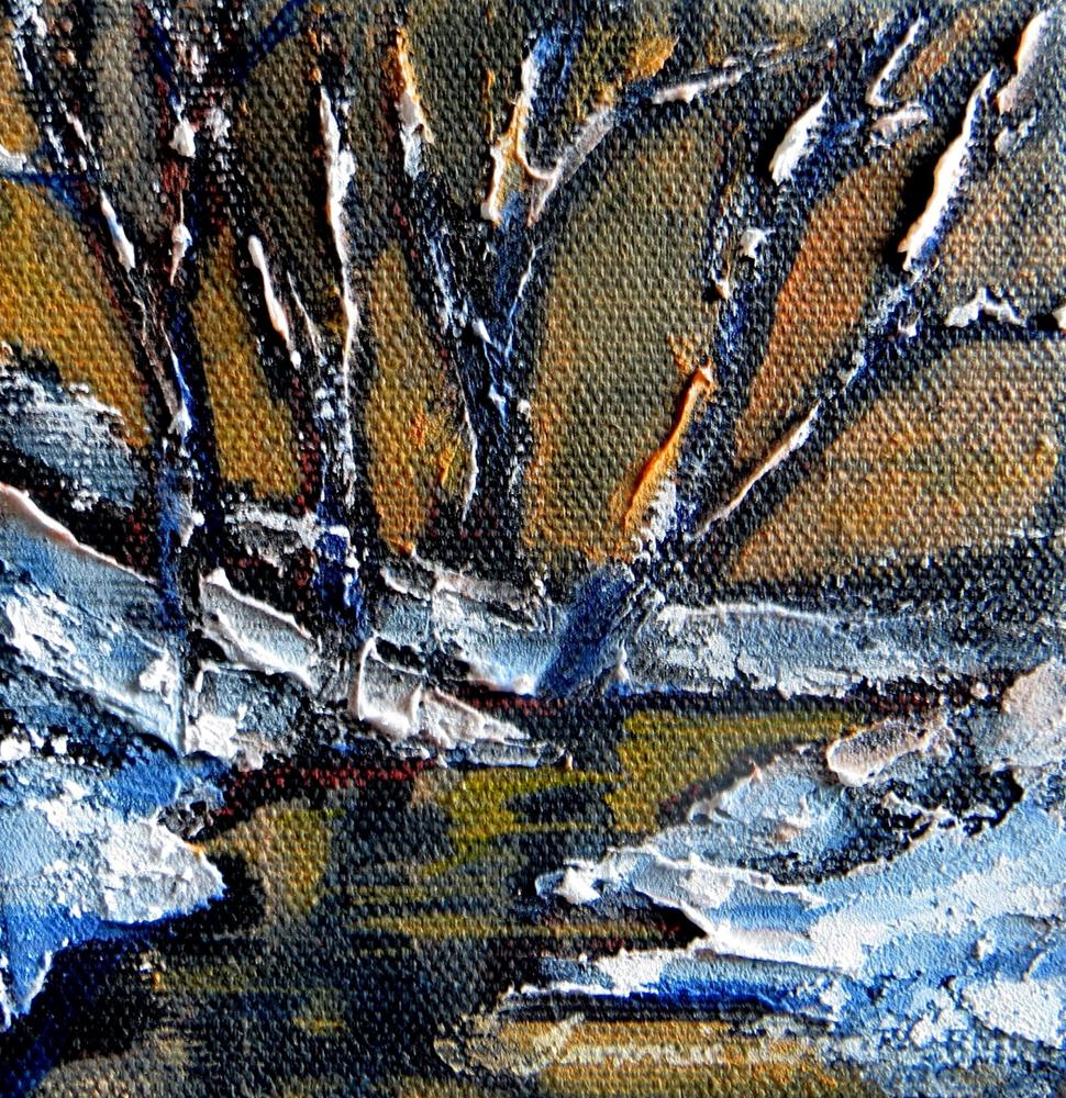 """Winter Dusk"" original fine art by Tammie Dickerson"