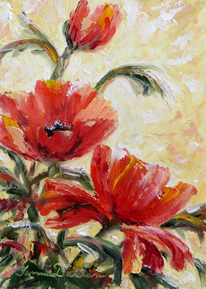 """The Pleasure of Poppies"" original fine art by Tammie Dickerson"