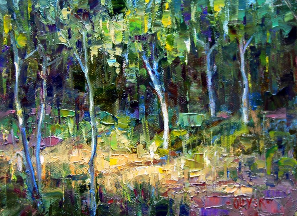 """Young Trees ll"" original fine art by Julie Ford Oliver"