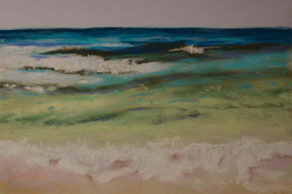 """Waves"" original fine art by Judy Wilder Dalton"