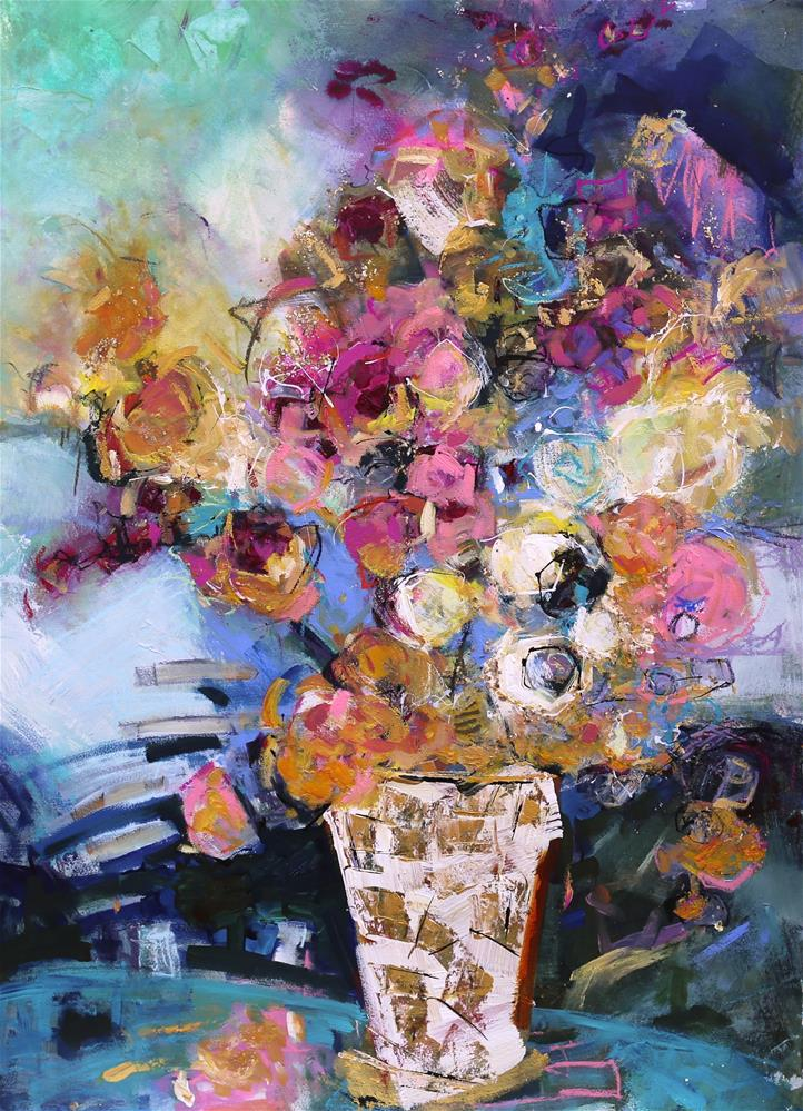 """Pompon"" original fine art by Elizabeth Chapman"