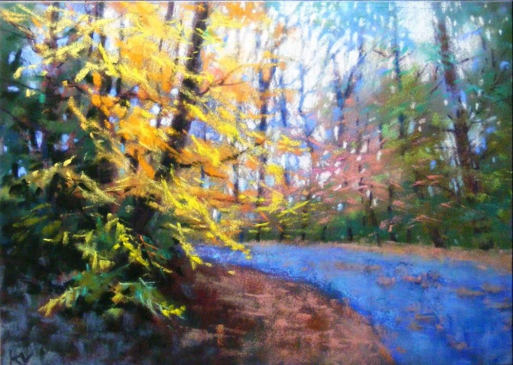 """""""Eastern Fall"""" original fine art by Celine K.  Yong"""