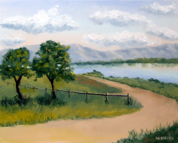 """Mark Adam Webster - Princess Vlei Lake - Cape Town - South Africa Oil Painting"" original fine art by Mark Webster"