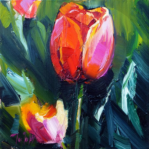 """Die Tulpe"" original fine art by Jurij Frey"