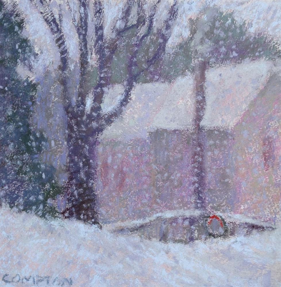 """And It Kept On Snowing . . ."" original fine art by Eden Compton"