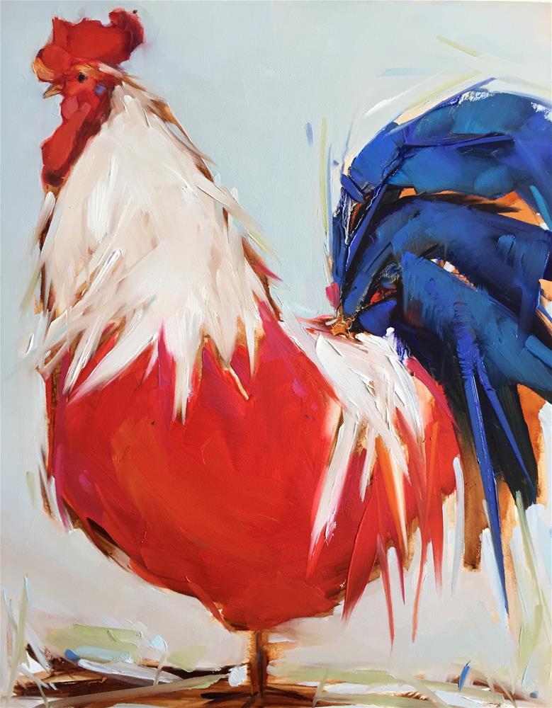"""Big Lou"" original fine art by Kathleen Broaderick"