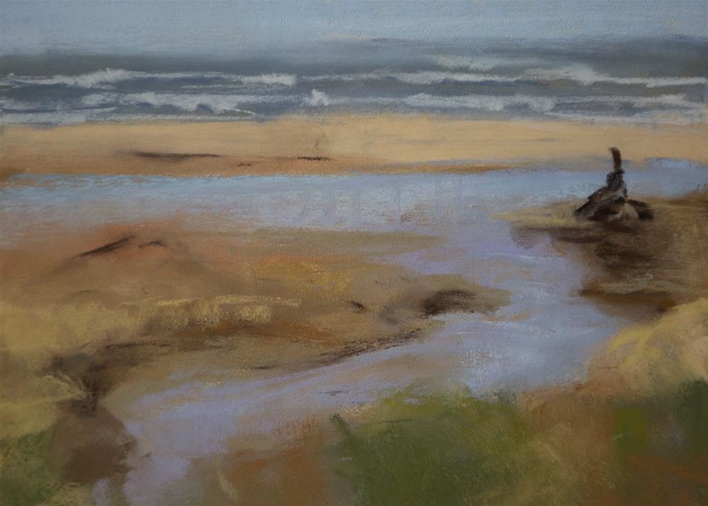 """Oregon Inlet - study"" original fine art by Sandy Byers"