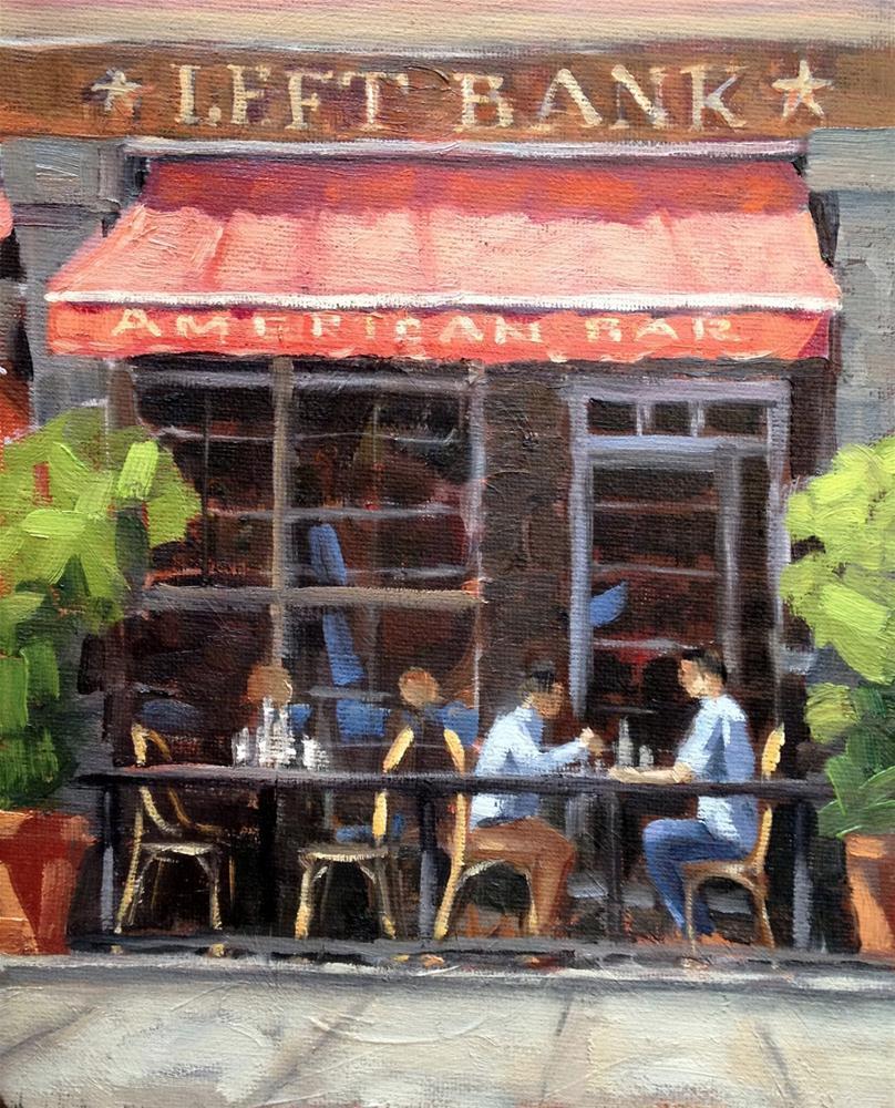"""Left Bank"" original fine art by Deborah Newman"
