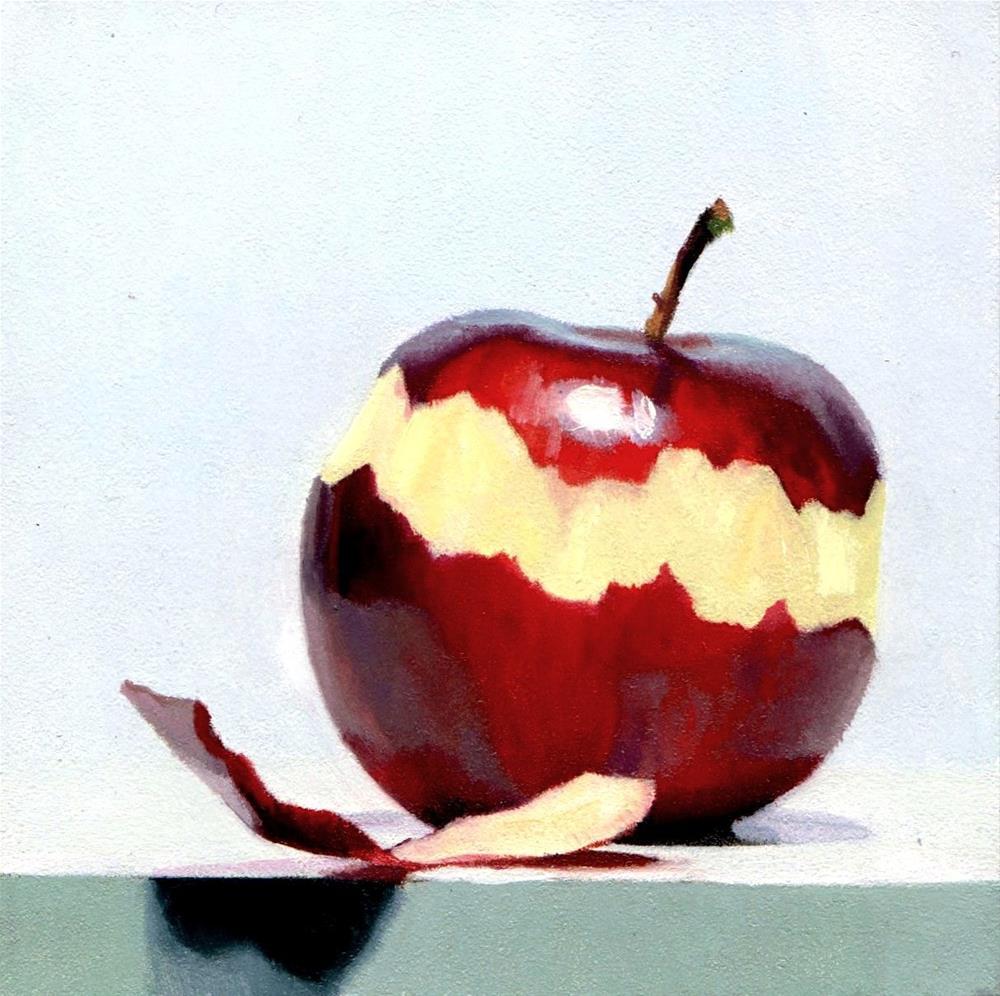 """#356 Braeburn Peel #2"" original fine art by Brian Burt"
