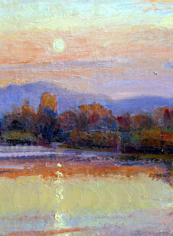 """Sunset Over the Inlet."" original fine art by Julie Ford Oliver"
