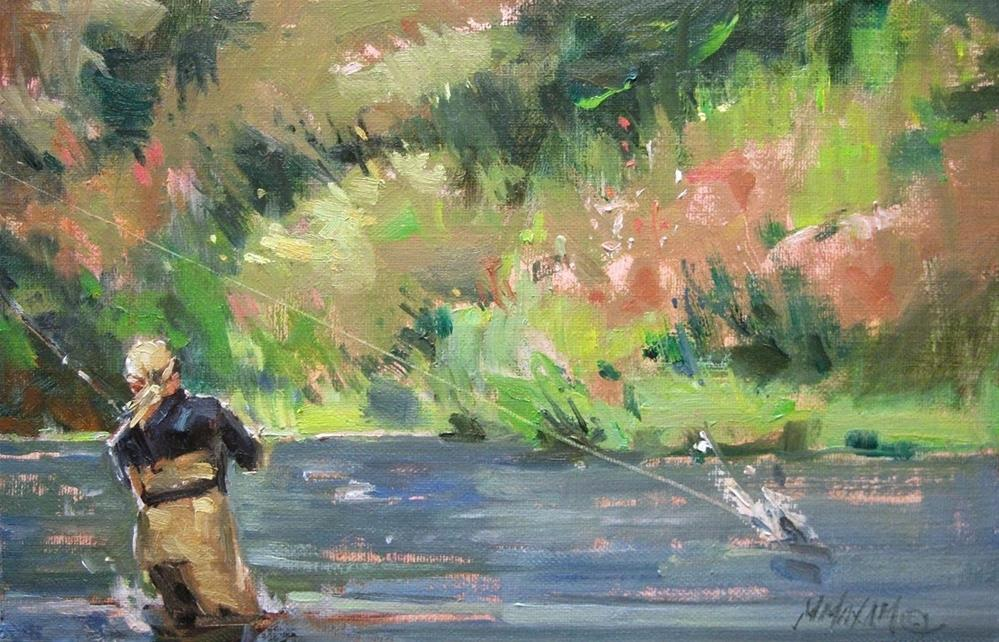 """Reel Fun"" original fine art by Mary Maxam"