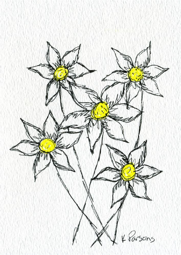 """Yellow in the Middle"" original fine art by Kali Parsons"