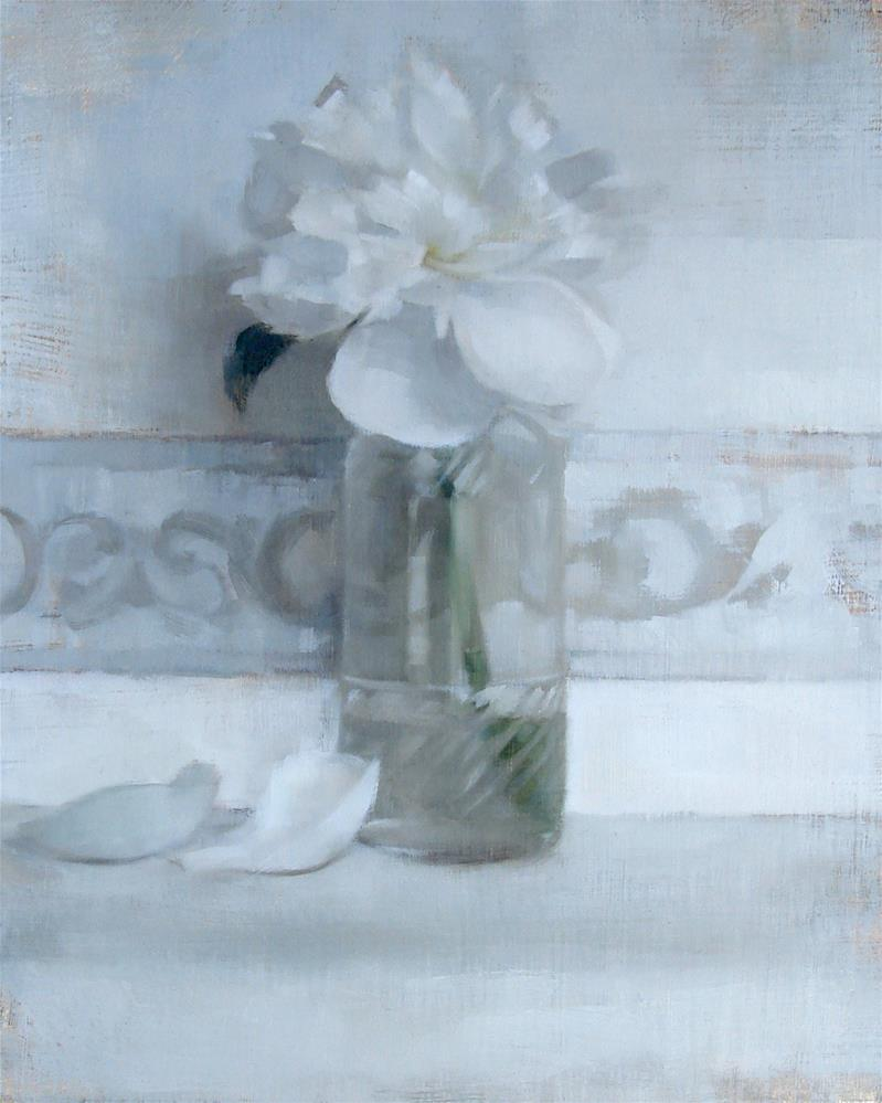 """White Peony (no.100)"" original fine art by Michael William"