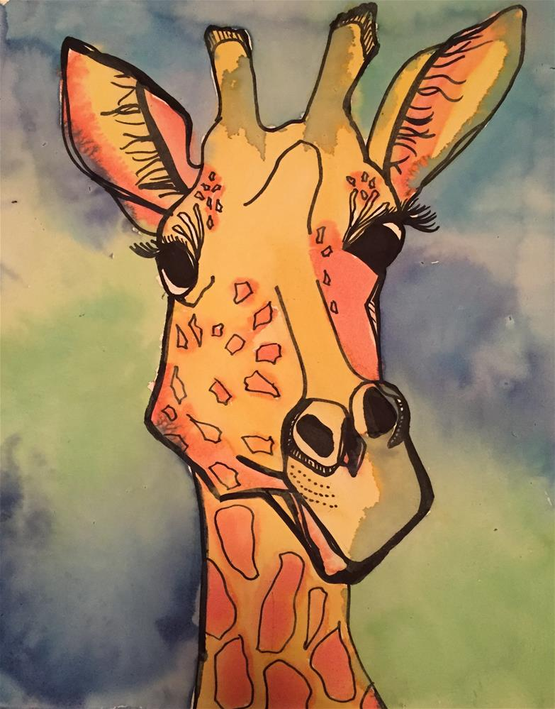 """Silly Ol' Giraffe"" original fine art by Elaine Ford"