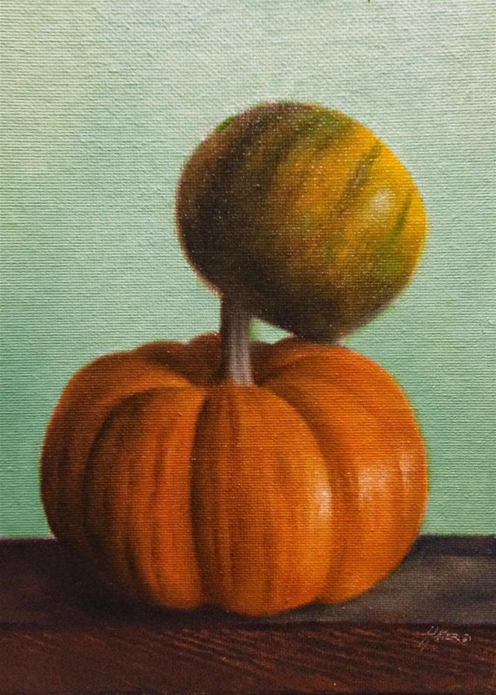 """""""Pumpkin & Gourd"""" original fine art by Jonathan Aller"""