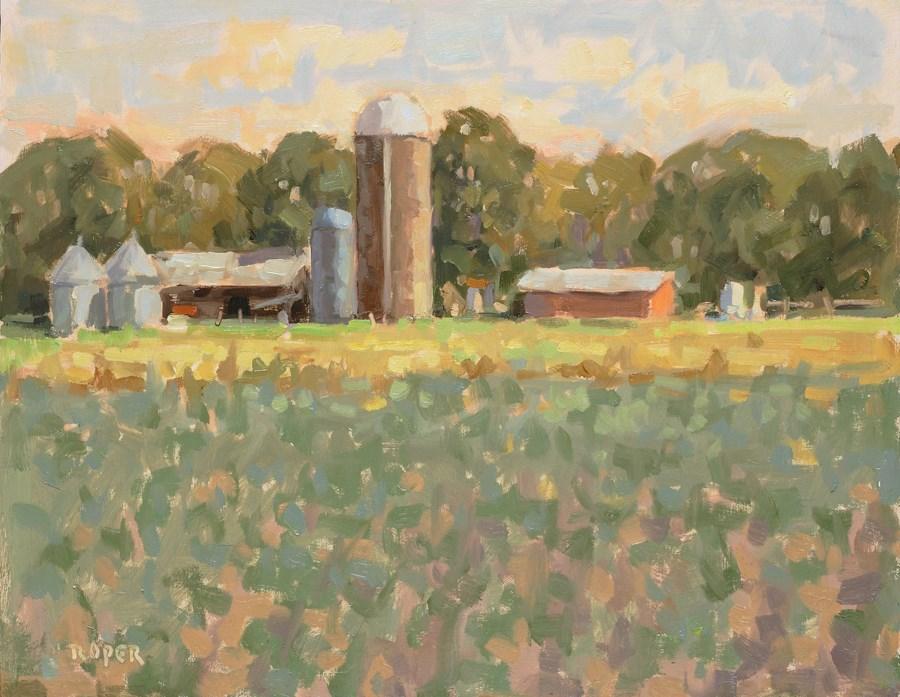"""DAY 19: Low Country Farm"" original fine art by Stuart Roper"