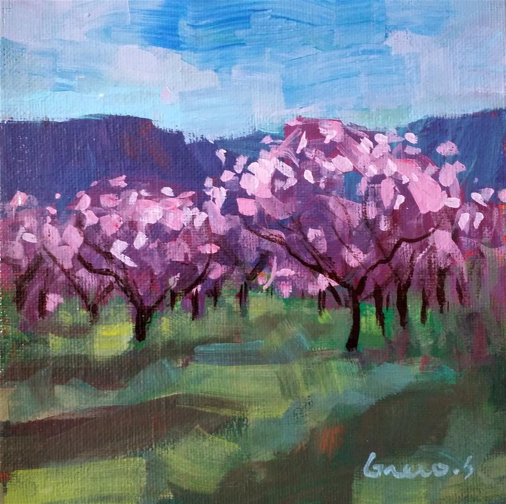 """blooming"" original fine art by salvatore greco"