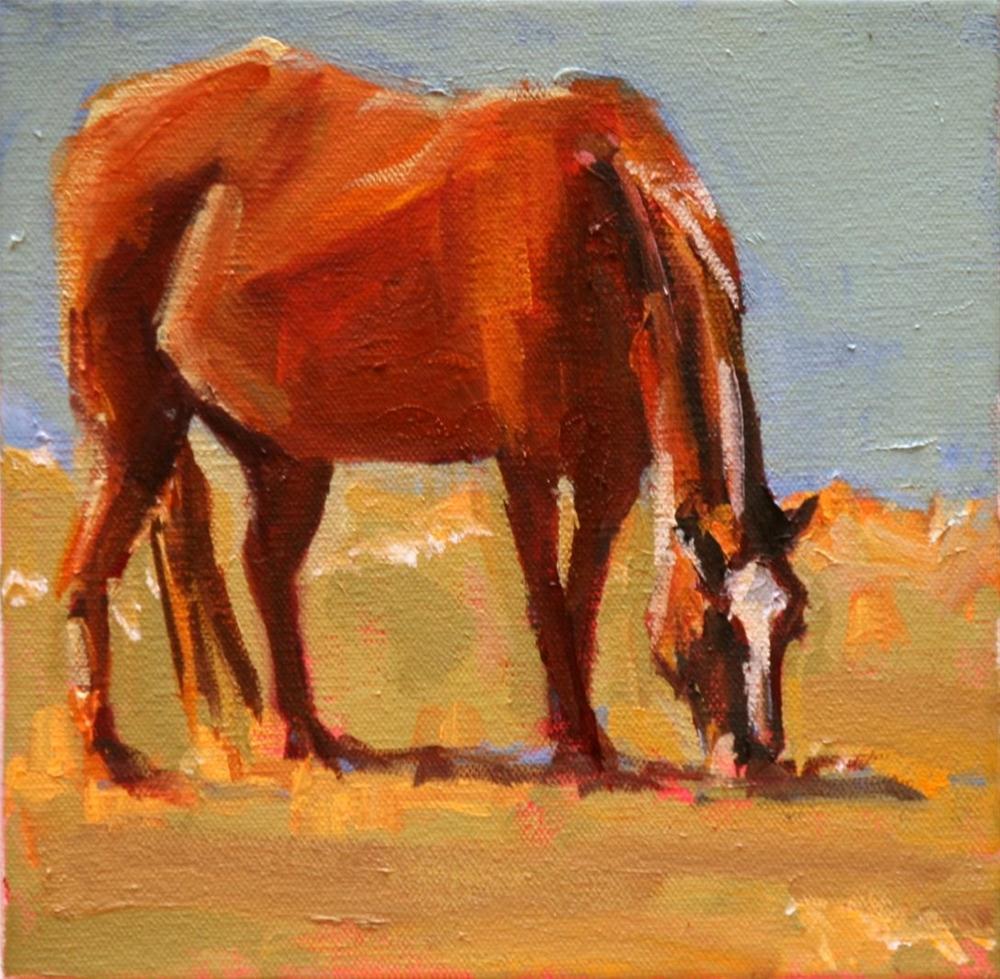 """brown beauty"" original fine art by Carol Carmichael"
