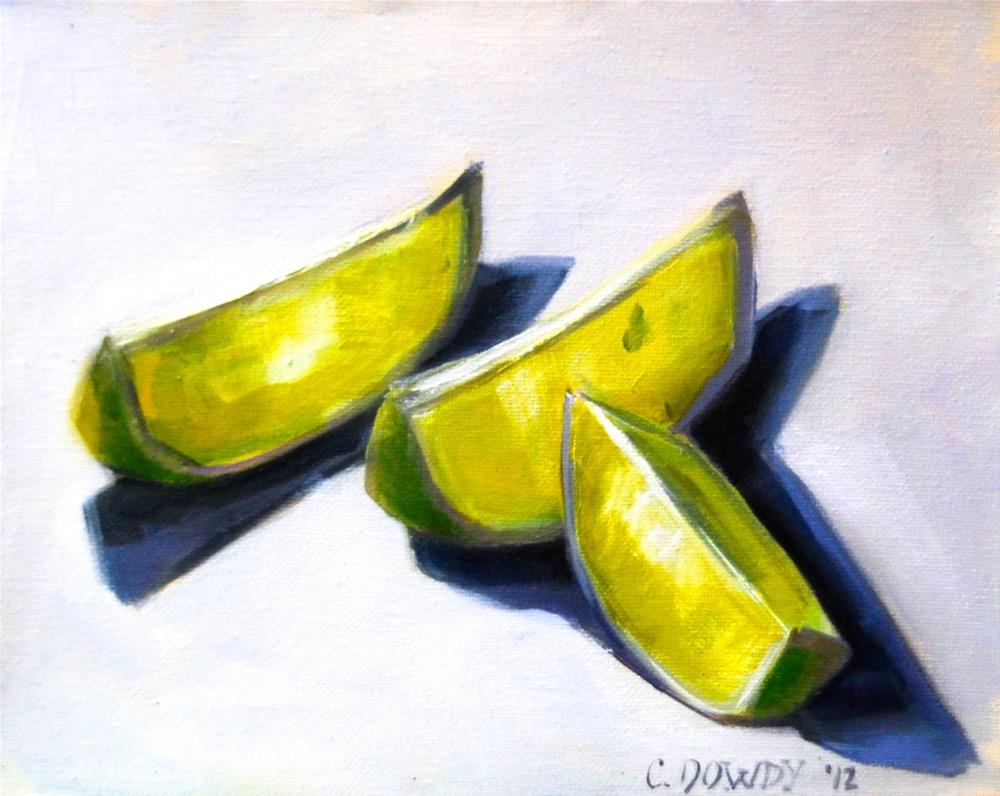 """Lime Slices in Light"" original fine art by Christina Dowdy"