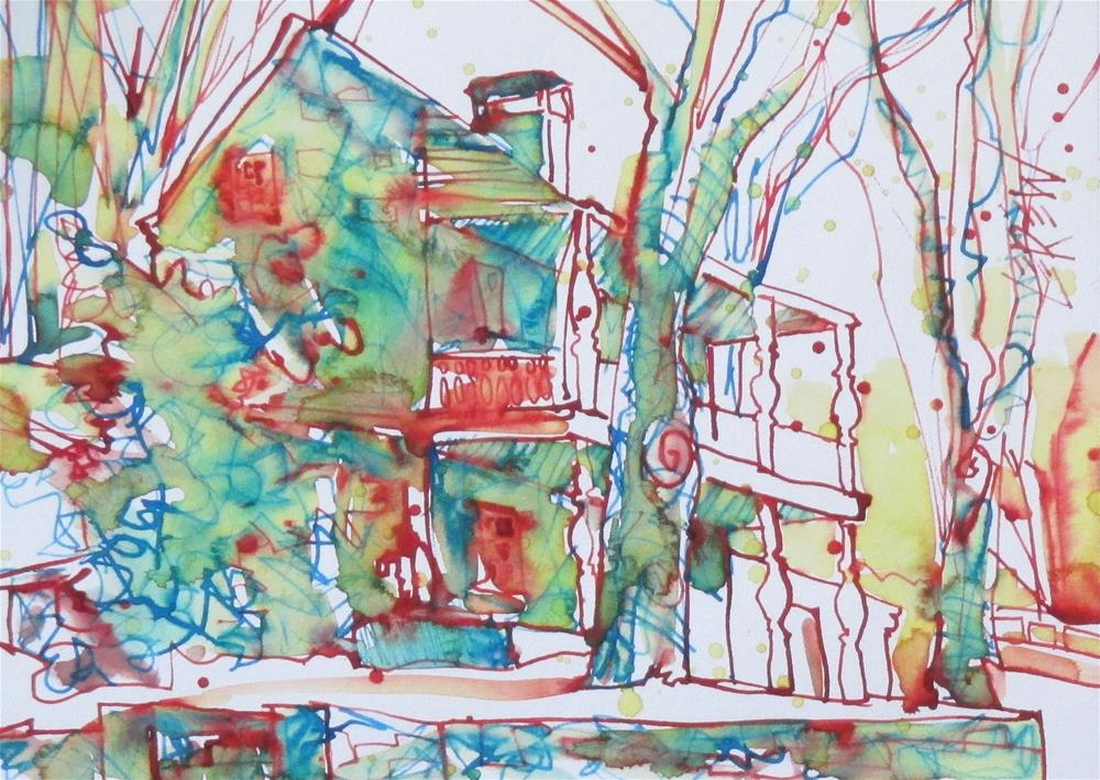 """""""Porch Posts and Balusters by Larry Lerew 160808"""" original fine art by Larry Lerew"""