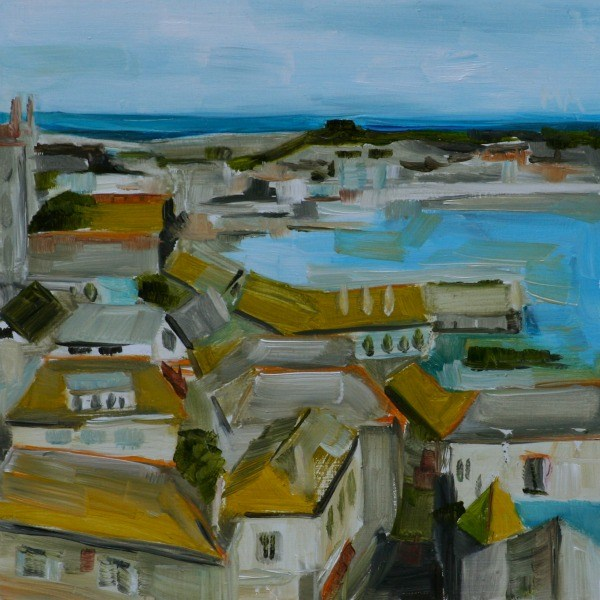 """Green Rooftops"" original fine art by Aniko Makay"