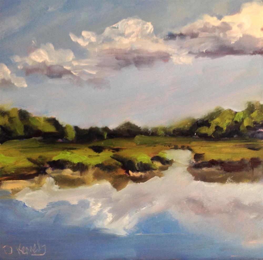 """""""Cape Marsh"""" original fine art by Debra Kennedy"""