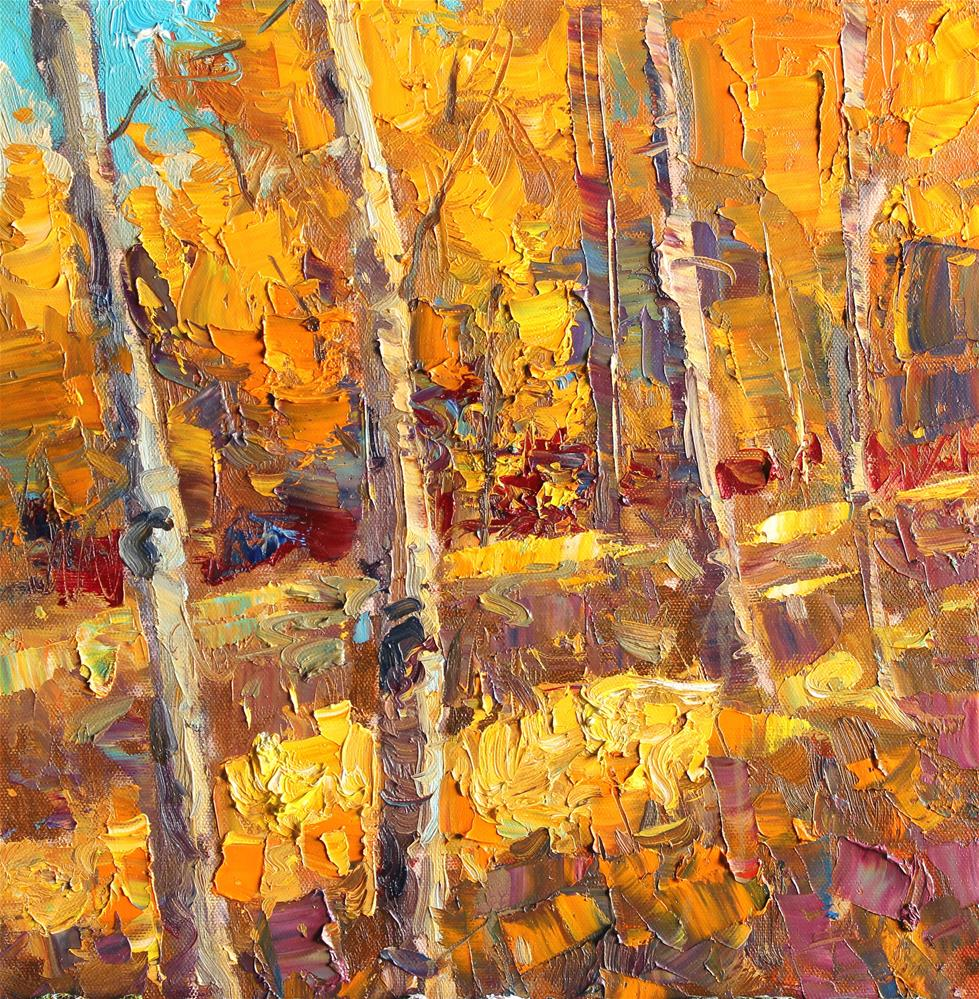 """Fall Aspen Study"" original fine art by Michael Clark"