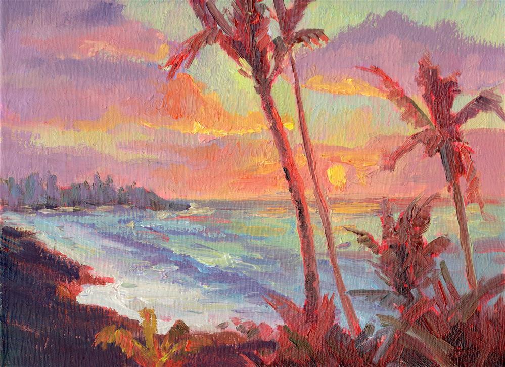"""SUNRISE AT HANA"" original fine art by Karen E Lewis"